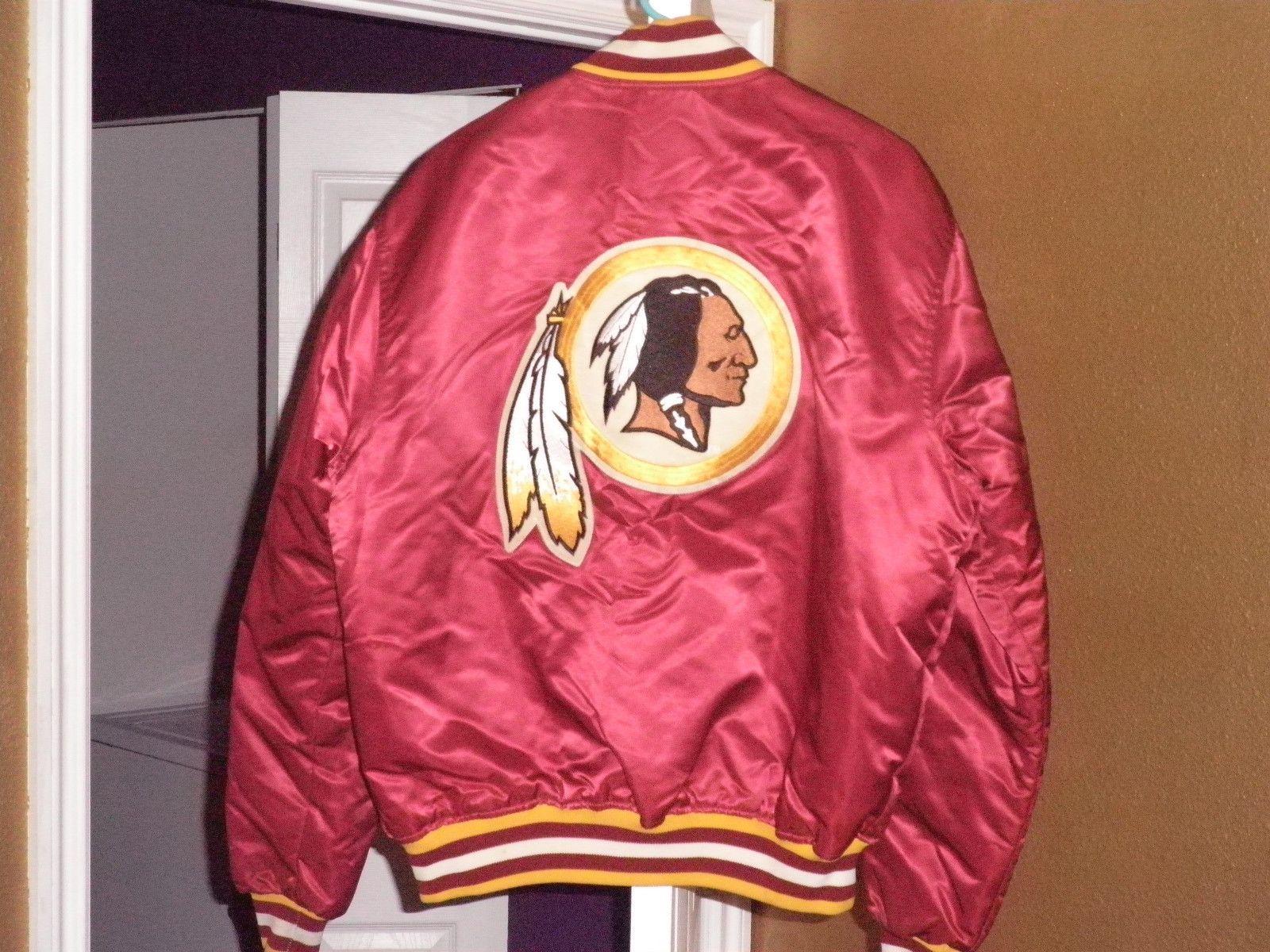 Vintage 80s Washington Redskins Satin Starter Jacket XL Back Patch!