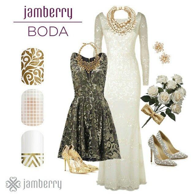 Un manicure único para tu boda.   Estos diseños y más,  chasemynails.jamberry.com