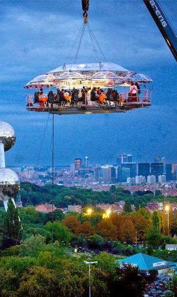 Hanging Restaurant, Belgium Things that make me go wow!… And… I don't think so!