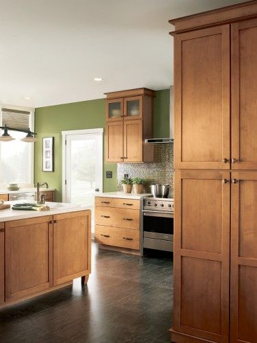 maple mocha glaze cabinets | Allow a minimum of 42 ...