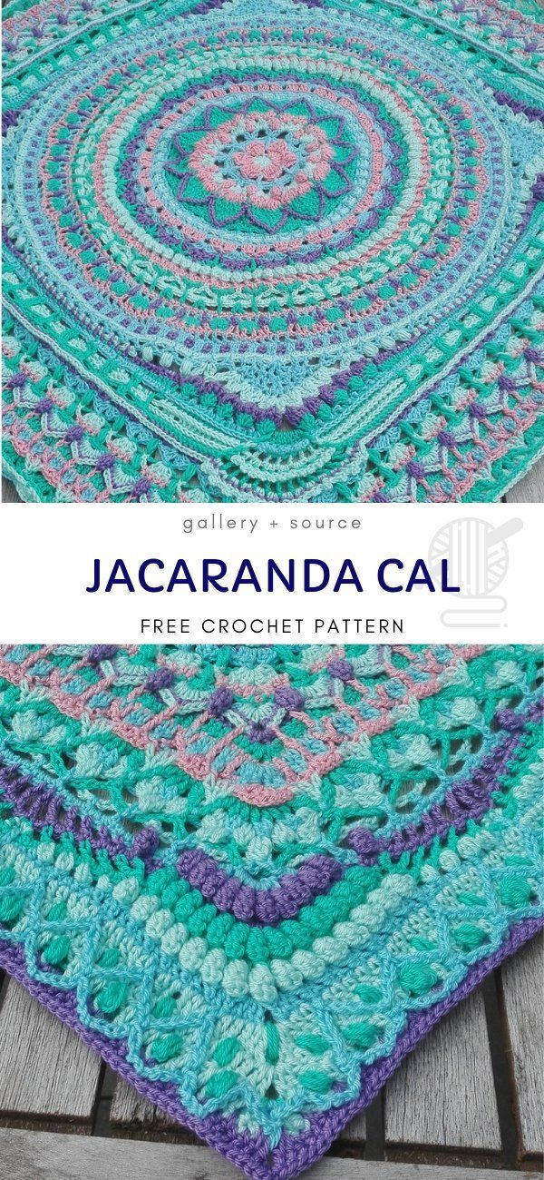 Fantastic Blanket CALs #crochetmandalapattern