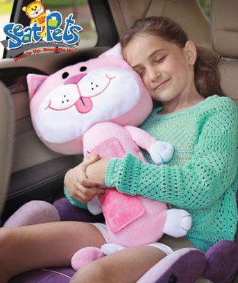 Seat Pets Pink Stuffed Animals Cat Pillow Christmas Pillow