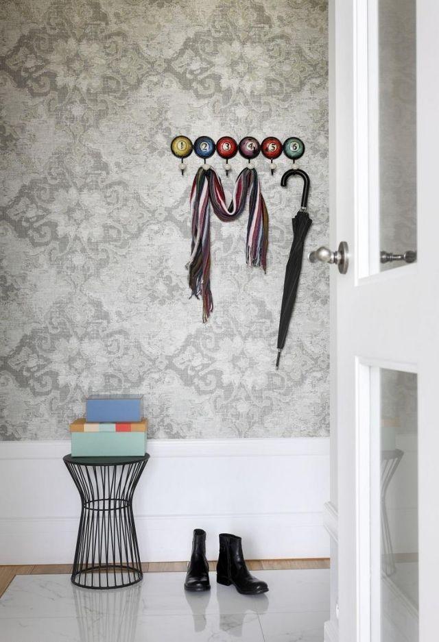 garderobe-flur-idee-billiard-ball-ziffern-wandhaken Billiard - flur idee