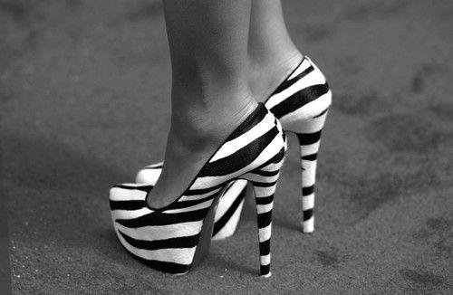 Zebra Print Heels n_n