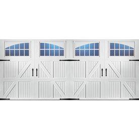 Pella Carriage House Series 192 In X 84 In White Double Garage Door Wi Garage Door Styles Double Garage Door Garage Door Design