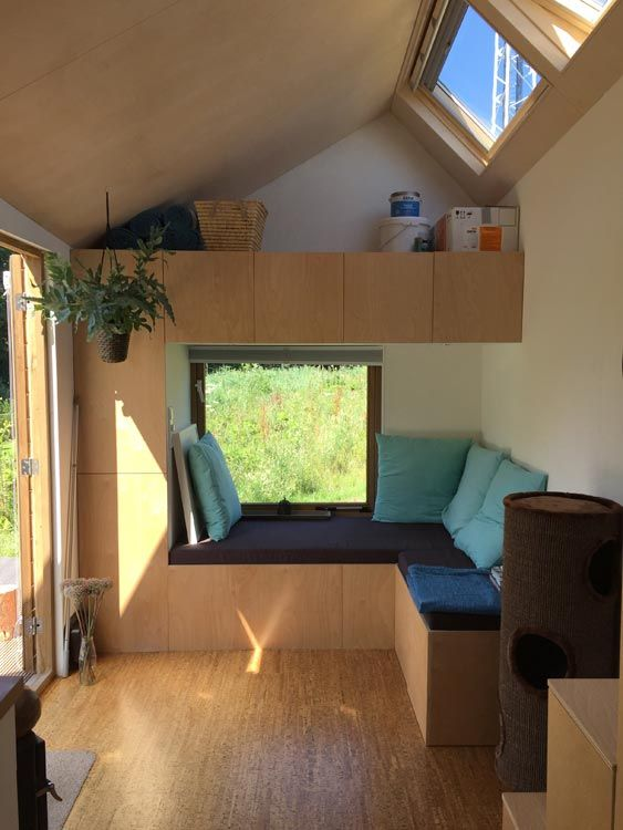 Marjolein 39 s tiny house skylight natural light and ceilings - Skylight house plans natural light ...