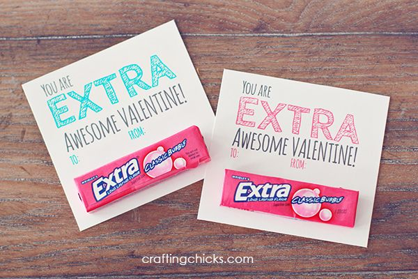 picture regarding Extra Gum Valentine Printable known as Excess\