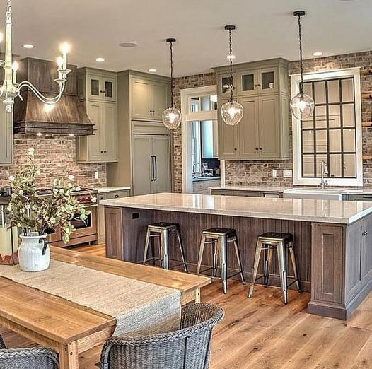 25 Absolutely Gorgeous Transitional Style Kitchen Ideas: 25 Awesome Farmhouse Kitchen Design