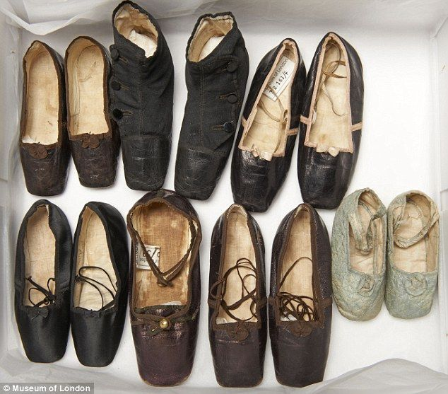 The shoes worn by Queen Victoria's children, including the boy who would later become Edward VII