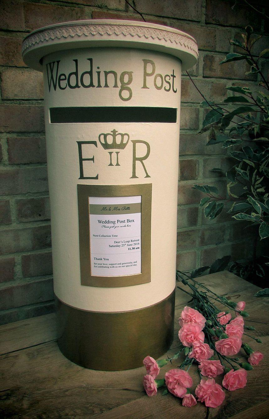 Personalised Wedding Post Box Wedding Post Box Diy Wedding Post Box Wedding Card Post Box