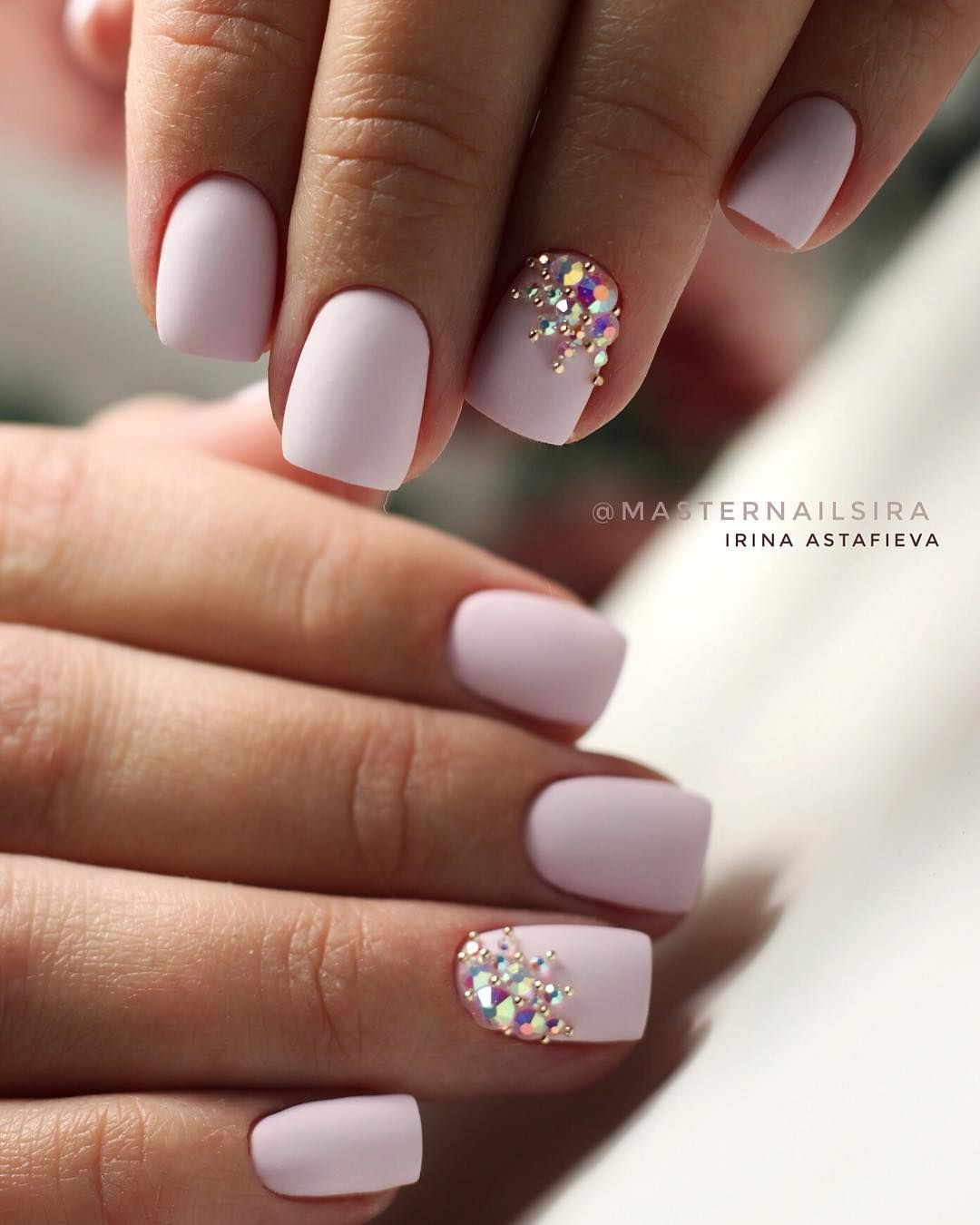 48 Stylish Acrylic White Nail Art Designs and Ideas