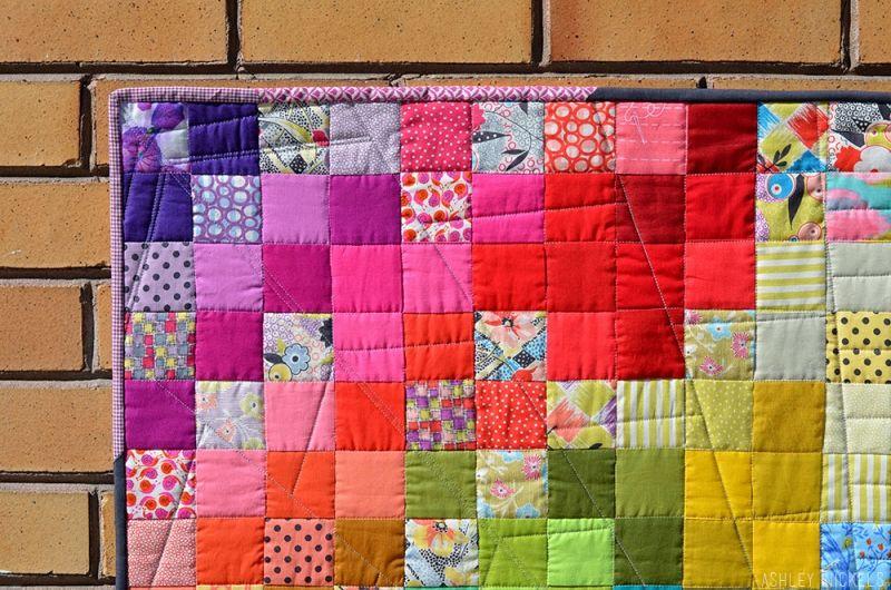 Binding love rainbow quilt craft classes mini quilts