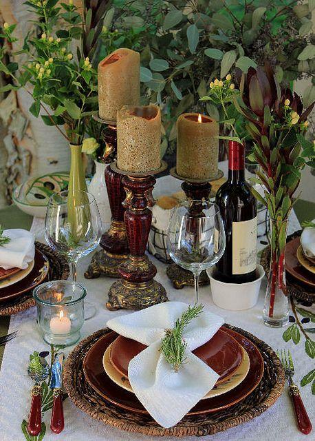 Rustic Italian Place Setting The Haute Table Rustic Italian