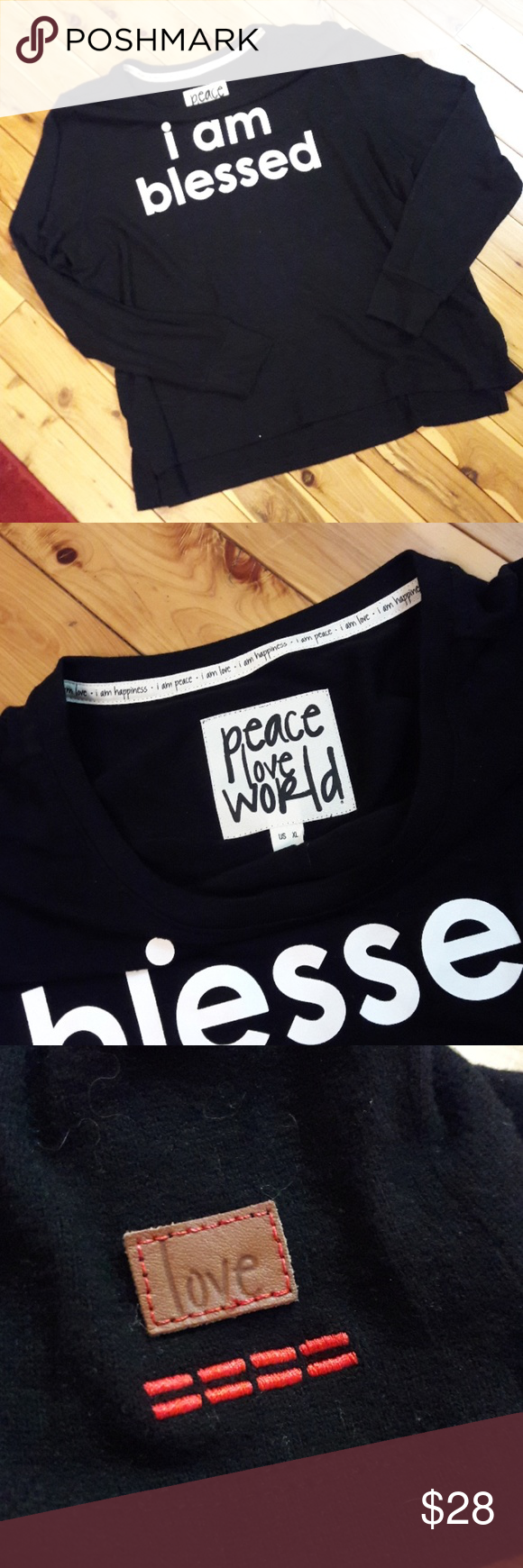 Sold Peace Love World I Am Blessed Tee Xl Seriously The Softest Shirt Ever Qvc Peace Love Worldnd Size Xl Gently Used  Armpit To Armpit And