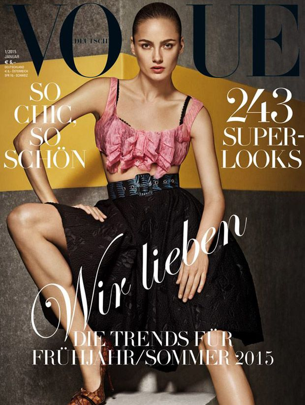 Karmen Pedaru, Andreea Diaconu And Hilary Rhoda Cover January 2015 Issue Of Vogue Germany | News | The FMD #lovefmd