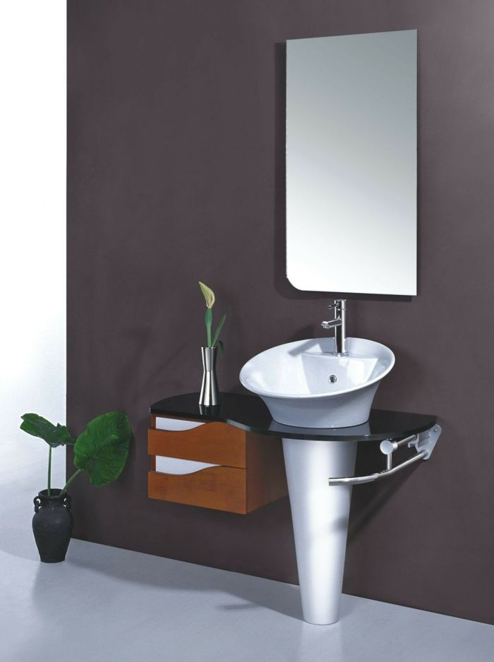 badezimmermöbel colles waschbecken wandspiegel pflanzen - pflanzen für badezimmer
