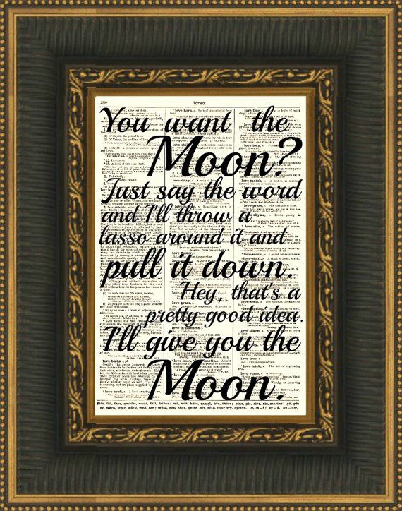 Lasso the Moon It's a Wonderful Life quote print on up