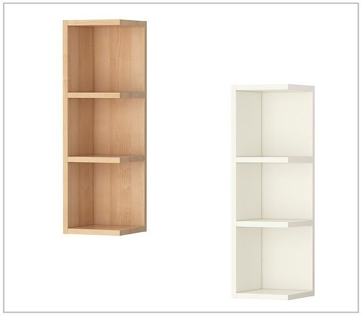 Ikea Lillangen Wall Corner Shelf End Unit White And Birch Effect Shelves Corner Shelves Modern Wall Decor