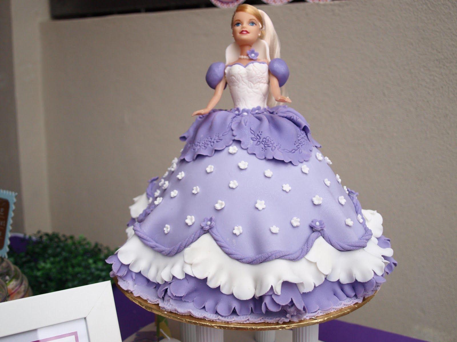 How Make Princess Doll Birthday Cake Pic 21 Baking Pinterest