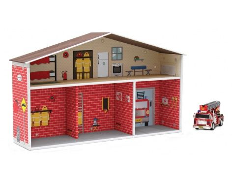 Cool cardboard firehouse dolls and more Pinterest DIY toys