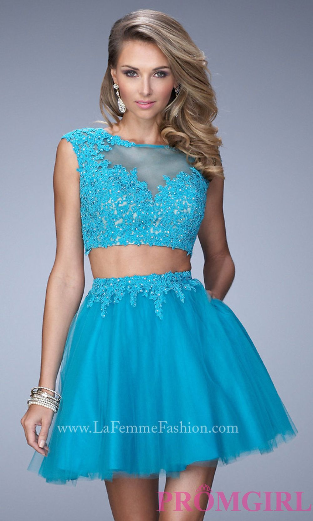 La femme blue short dress