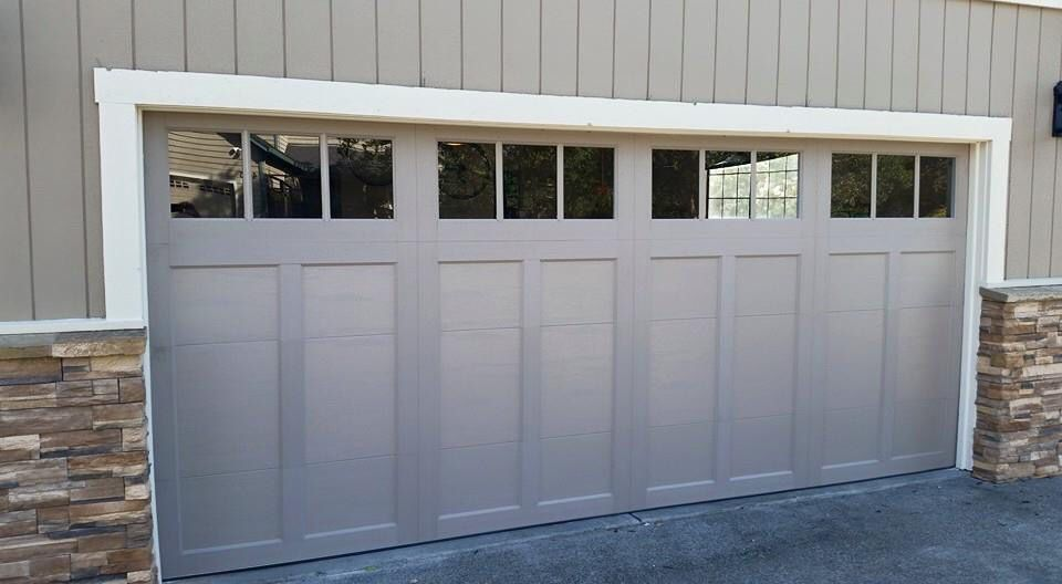 Clopay coachman design 12 with rec13 windows garage door for 16 x 11 garage door
