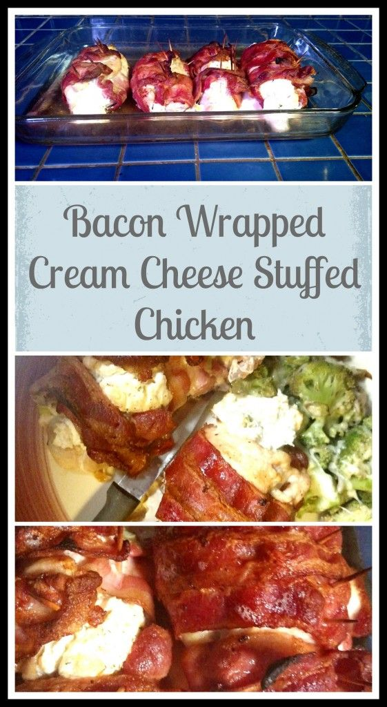 Bacon Wrapped Cream Cheese Stuffed Chicken Recipe - Seriously! You need to try this!