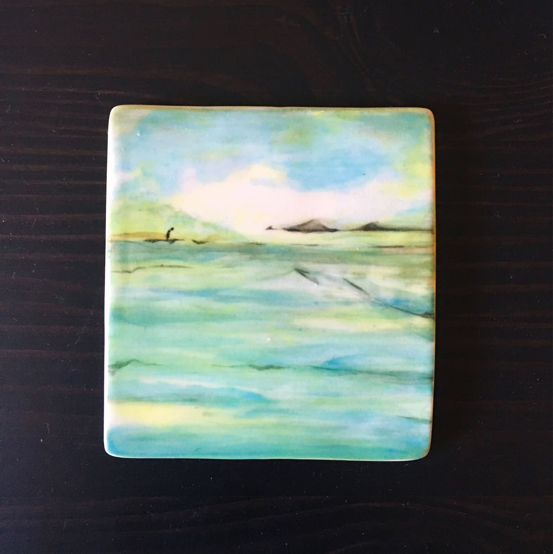 Original Ceramic Painting By Gina R Furnari Painting Underglaze