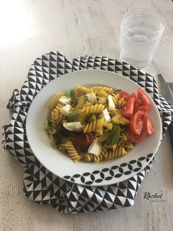 One pot pasta courgette et tomate
