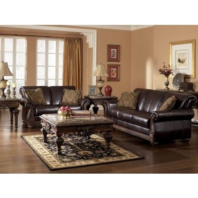 Brentwood   Mahogany 2 Piece Leather Sofa Set At: Http://www.