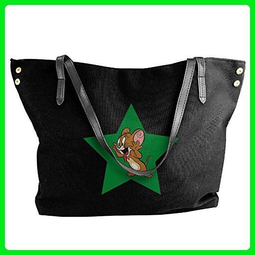 25f69828d8 Jerry Mosue Star Canvas Shoulder Bag Large Tote Bags Women Shopping Handbags  - Shoulder bags (