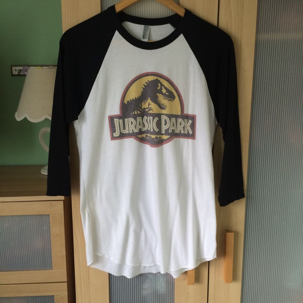 Jurassic Park Jurassic World Baseball Tshirt Shirt Top Vintage Faded Small In Clothes Shoes Accessories Women S Clothing To Vintage Tops Geek Clothes Tops