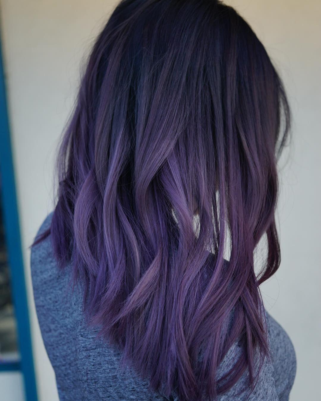Dusty Lavendar Hair Color Purple Dark Purple Hair Color Purple