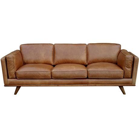 DAHLIA 3 Seat Leather Sofa