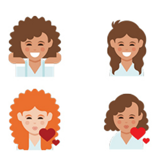 View The Curly Hair Emoji Coming To Your Phone