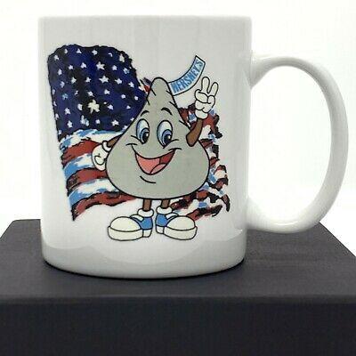 Hershey S Kiss Mascot Patriotic American Flag 12 Oz White Coffee