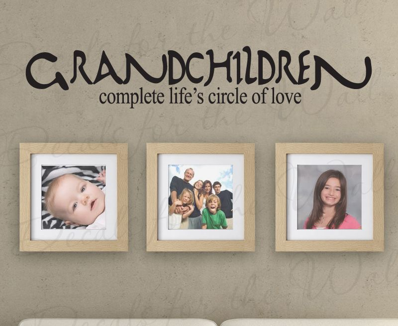 grandkids complete life grandma grandpa vinyl wall decal quote k89