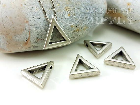 4 pc slider triangle pendants minimal jewelry jewelry making 4 pc slider triangle pendants minimal jewelry jewelry making supplies silver triangle pendant geometric jewelry slide through charms jewelry supplies aloadofball Gallery