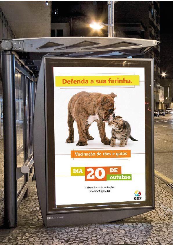 Mídia externa - Campanha de Vacinação cães e gatos - GDF Peça Fantasma