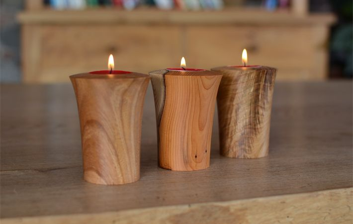 Woodworking Online Training Bougeoirs Bois Decoration Bois