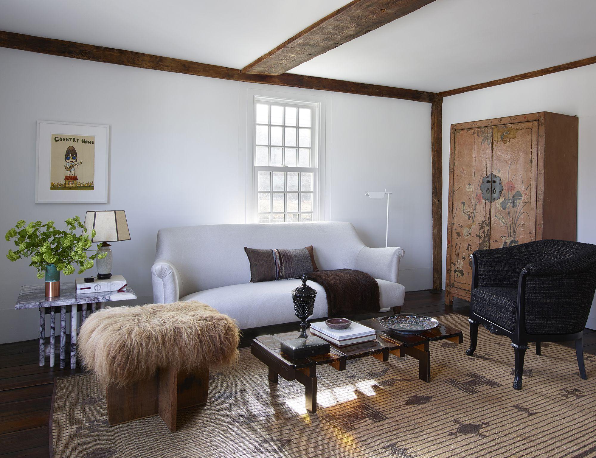 Seating Connecticut Farmhouse Kara Mann Interior Design Interior Design Living Room Bedroom Interior Interior Design Bedroom