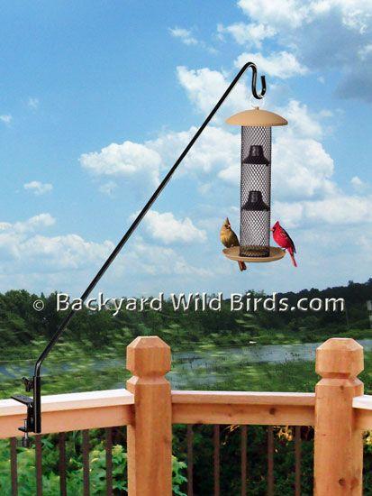 Deck pole sunflower bird feeder landscaping pinterest