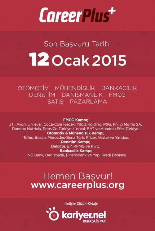 #Kariyer #is #egitim #etkinlik Detaylar => http://www.hadigenc.com/2014/12/kariyer-etkinligi-careerplus-sizi.html