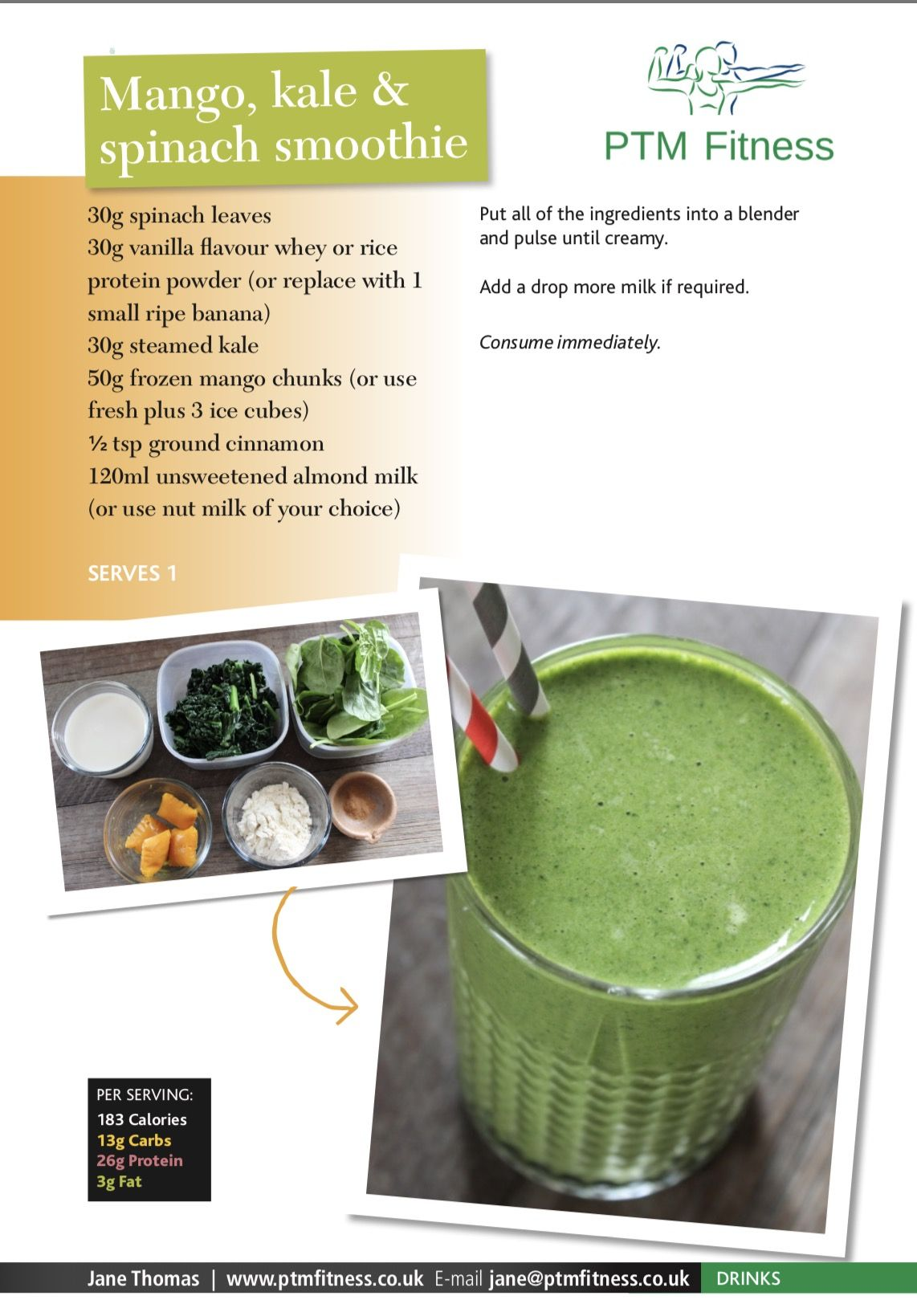Pin by Keto Body on Recipes Eat Clean Spinach smoothie