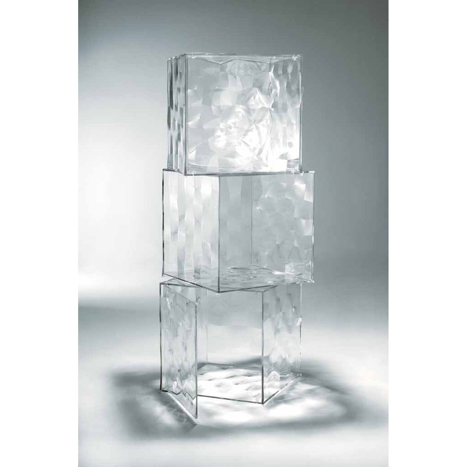 The Kartell Optic Cube Storage Designed By Patrick Jouin Is An Exciting  Faceted Cube With Its Transparent And Mirrored Parts That Create A Special  Reflected ...