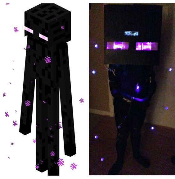 A tutorial on how to create your own Minecraft Enderman Costume ...