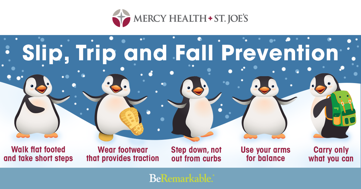 Prevent slips, trips and falls on icy sidewalks Winter