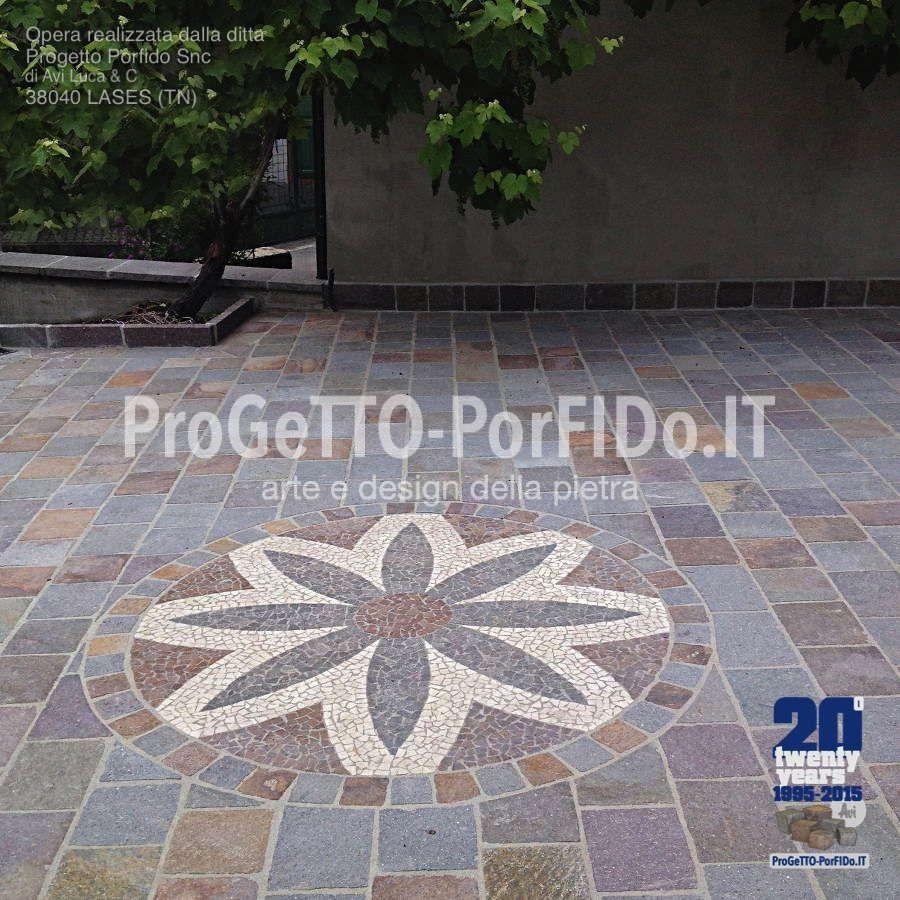 Disegno A Pavimento Con Porfido E Marmo Esterni Flooring E Tiles
