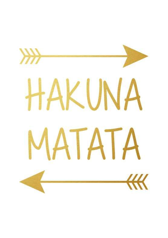 Cute Wallpapers With Friendship Quotes Hakuna Matata Disney Lion King Poster Black By