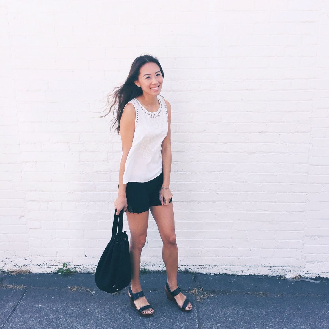 My style: Forever 21 top, Talula shorts from Aritzia, Zara wedge ...